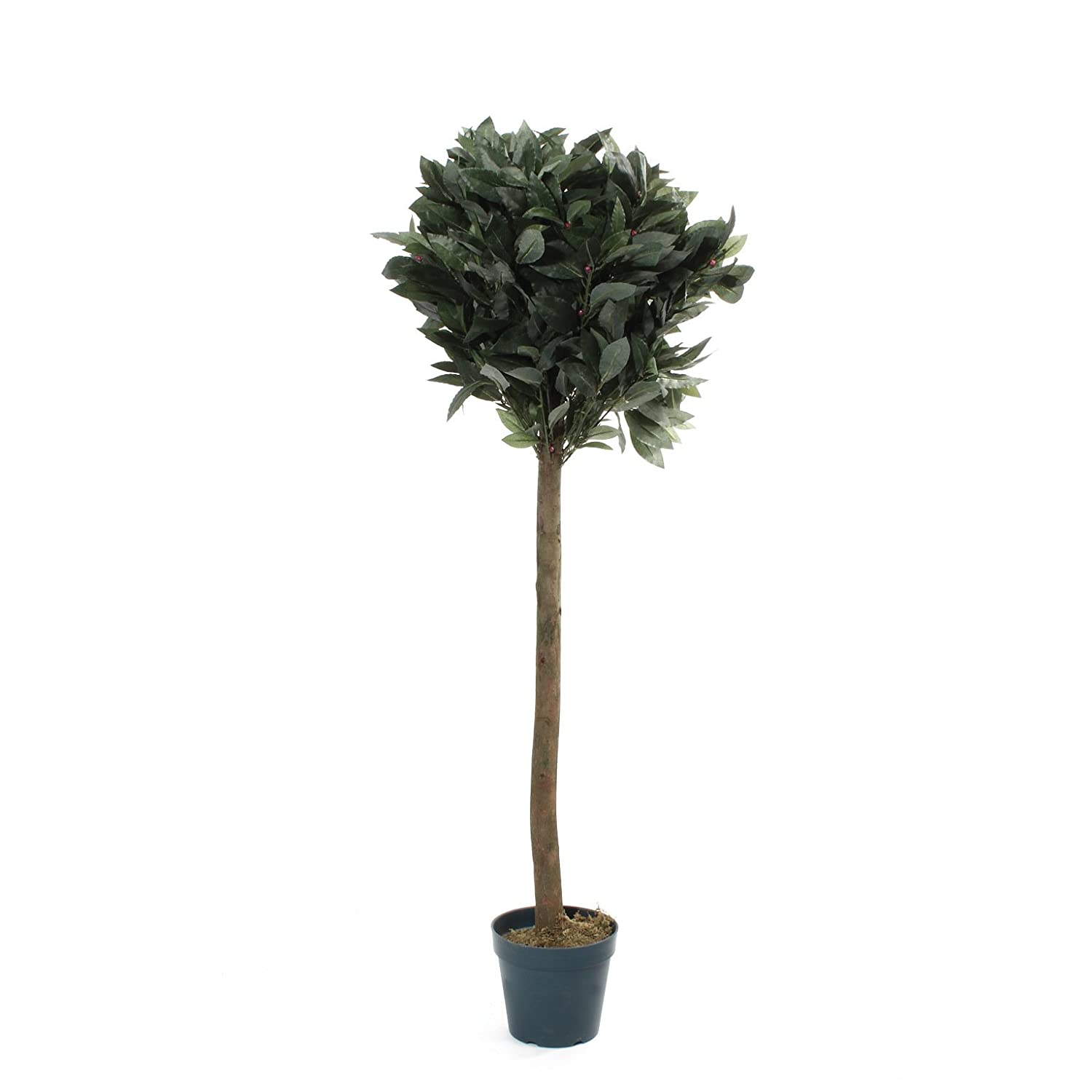 4ft Artificial Bay Tree Realistic Fake Green Pot Plant Leaves by De Vielle McLoughlinRS uk home MDA7Q DEV059892