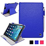 iPad Air 2 Case - KAYSCASE Bookshell Case Compatible with Apple iPad Air 2 case, 6th Generation (2014 Release) 9.7 inch tablet with Sleep/Wake Function (Lifetime Warranty) (Blue)