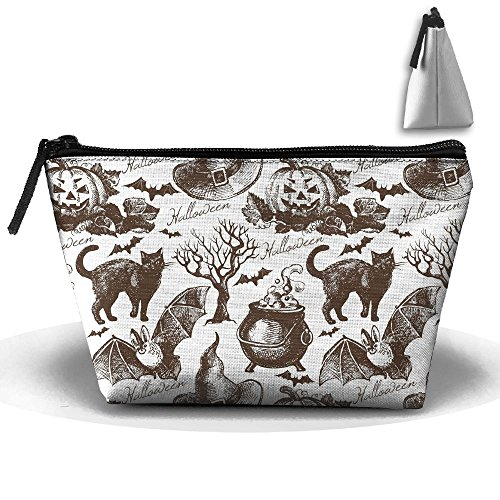 Price comparison product image Travel Cosmetic Bags Bat Pumpkin Witch Small Makeup Bag Multifunction Pouch Cosmetic Handbag Toiletries Organizer Bag for Women Girl