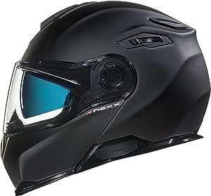NEXX X.Vilitur Plain Matte Black Modular Motorcycle Helmet (M)