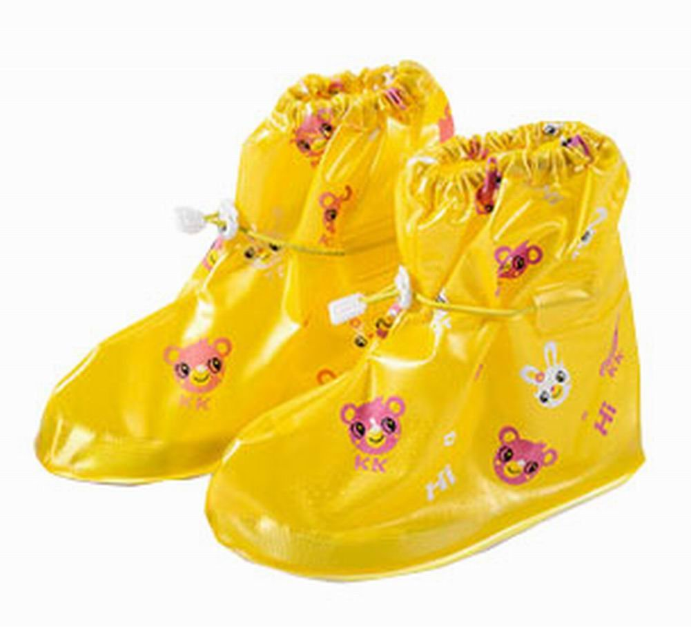 Blancho Practical Waterproof Shoe Covers Kid's Rain Shoe Covers Protector, Yellow Blancho Bedding