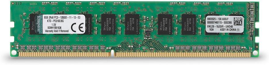 ذاكرة DDR3 1600MHz PC3-12800 ECC DIMM لاختيار أجهزة كمبيوتر ديل KTD-PE316E/8G