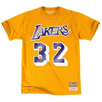 NBA Los Angeles Lakers Magic Johnson reproductor nombre y número camiseta (Mitchell & Ness)