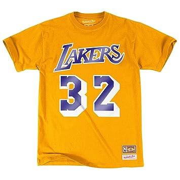 NBA Los Angeles Lakers Magic Johnson reproductor nombre y número camiseta (Mitchell & Ness)