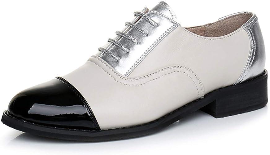 Zapatos Oxford de cuero genuino. Hechos a mano