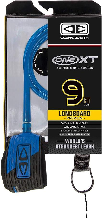 Ocean and Earth One XT Longboard Knee Surfboard Leash 9/' Blue