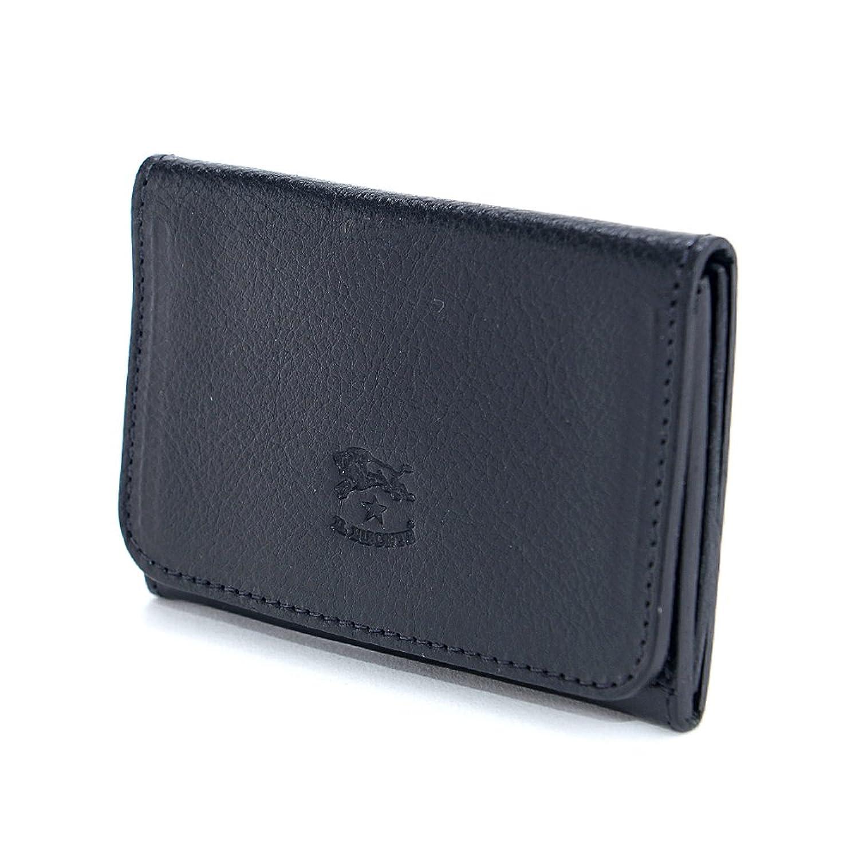 (イルビゾンテ) IL BISONTE カードケース 名刺入れ B01MYRS6FI  1.ブラック