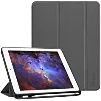 Fintie iPad 9.7 2018 (6th Gen) Case with Built-in Apple Pencil Holder - [SlimShell] Lightweight Soft TPU Back Protective Stand Cover with Auto Wake / Sleep for Apple iPad 9.7 inch Tablet (2018 Release), Space Gray
