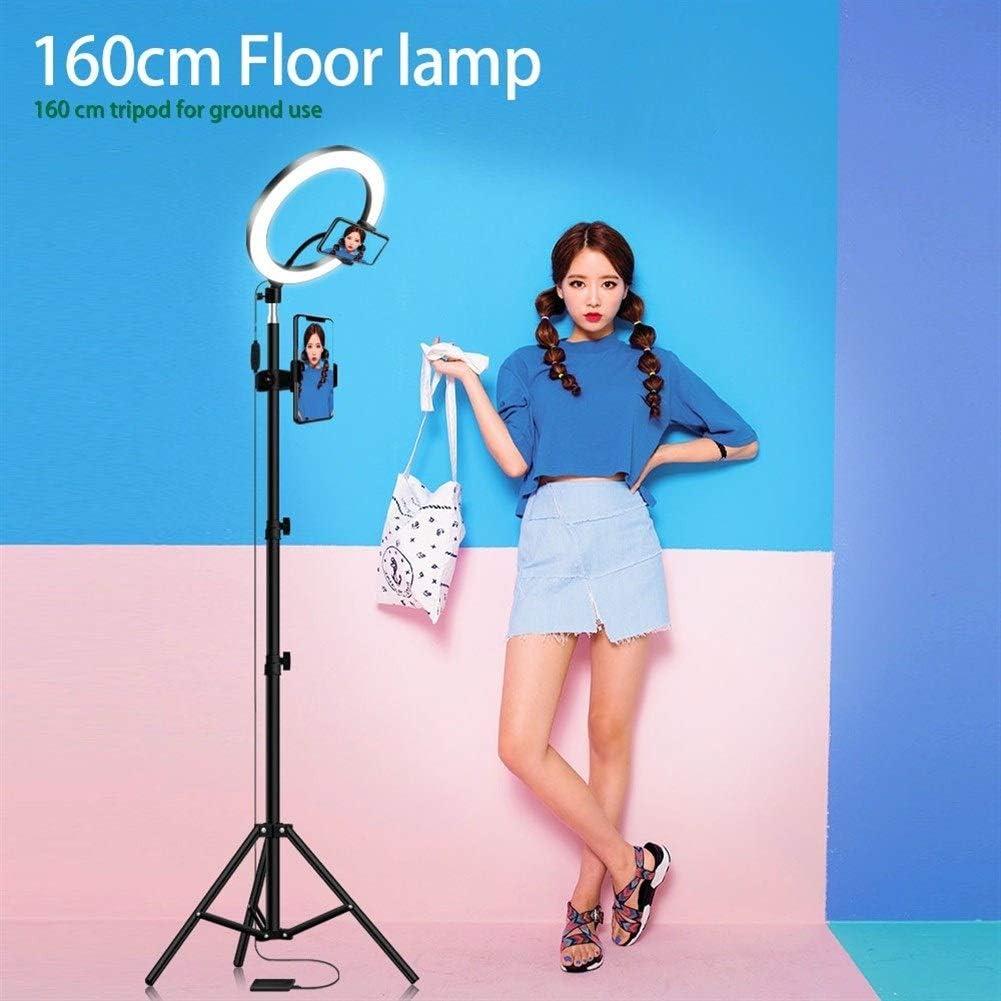 LED Ring Light 16//20//26cm 5600K Dimmable Selfie Ring Lamp Photographic Lighting with Tripod Phone Holder USB Plug Photo Studio Size : 26cm Type 50cm