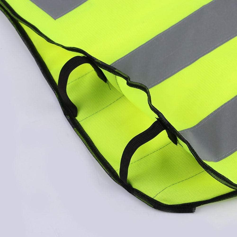 Warnweste,Reflektorweste Reflektierende Weste Sicherheitsweste Pannenweste Sicherheits Zubeh/ör F/ür Kinder Road Warnweste Motorrad Warnweste