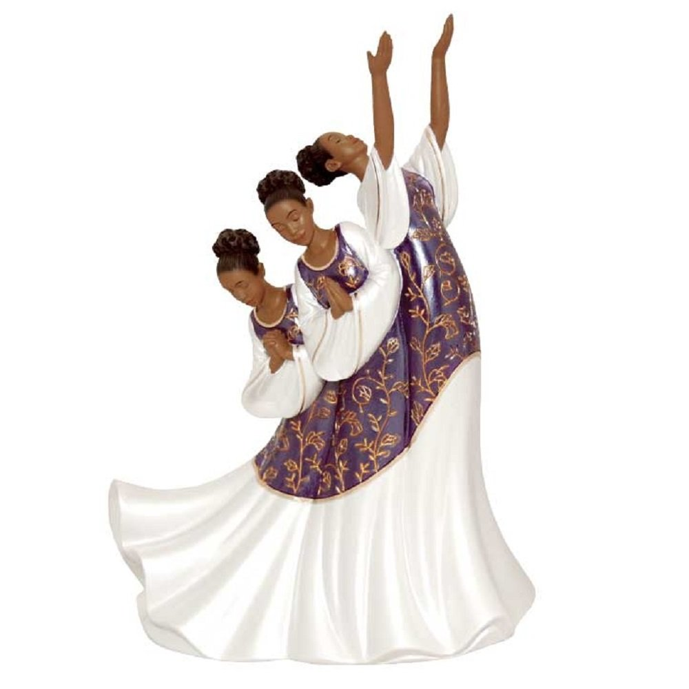 United Treasures African American Praise Dancer Figurine Giving Praise Positive Image Gifts 17715