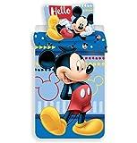 Juego de funda de edredón y funda de almohada reversibles de Disney Mickey Mouse, 140 x 200 cm, funda de almohada de 70…