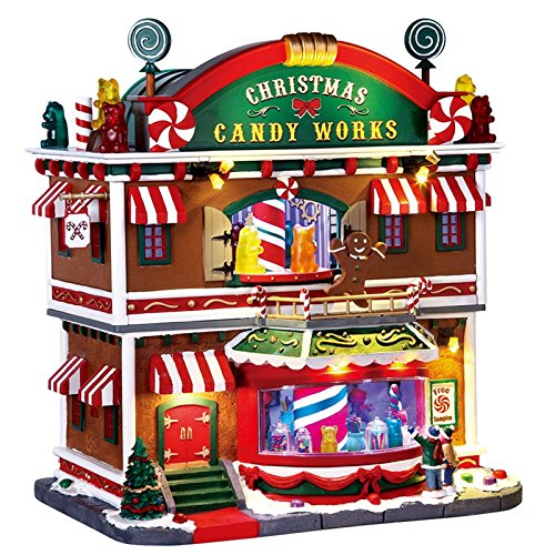 Lemax Christmas Candy Works Village Building Multicolored Resin 1 pk