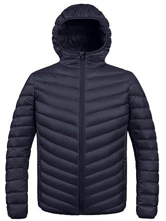 ZSHOW Men's Winter Hooded Packable Down Jacket: Amazon.ca ...
