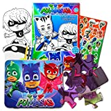 PJ Masks Lunch Box Set -- Deluxe Tin Lunch Box, Play Pack with Stickers and Puzzle (PJ Masks School Supplies, Party Supplies)