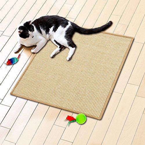 Floori® Sisal Kratzteppich   Naturfaser: nachhaltig und umweltfreundlich   Natur, 50x50cm