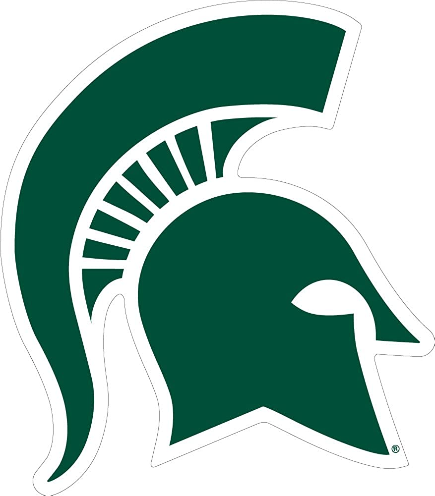 amazon com msu michigan state extra large 17 5 spartan decal clothing msu michigan state extra large 17 5 spartan decal