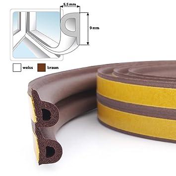 50m Gummidichtung Braun P Profil Fensterdichtung Turdichtung