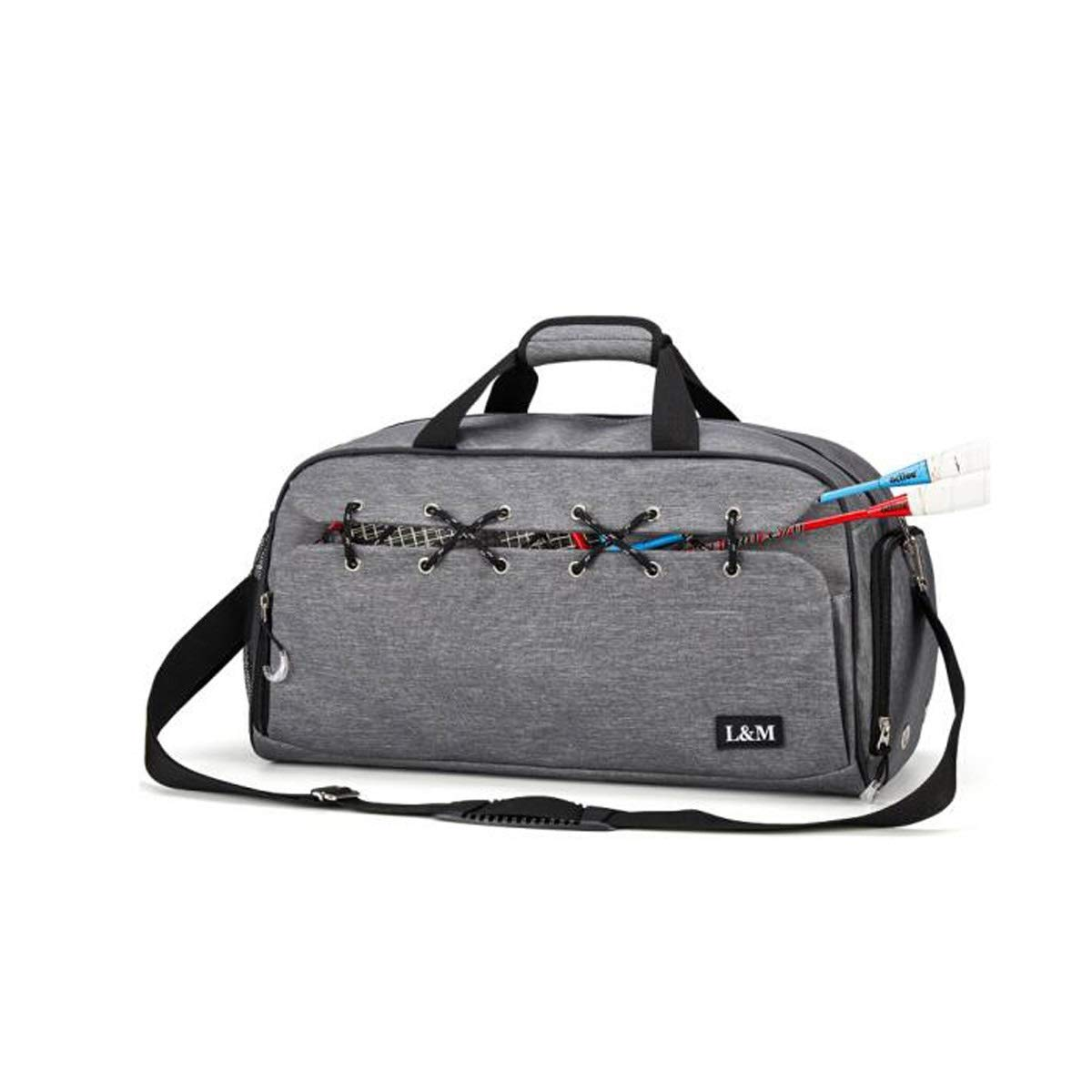 Male and Female Training Bag Sports and Leisure Bag Black Size: 502527cm Color : Gray Shoulder Bag Sports Bag Wet and Dry Separation Large Capacity Fitness Bag