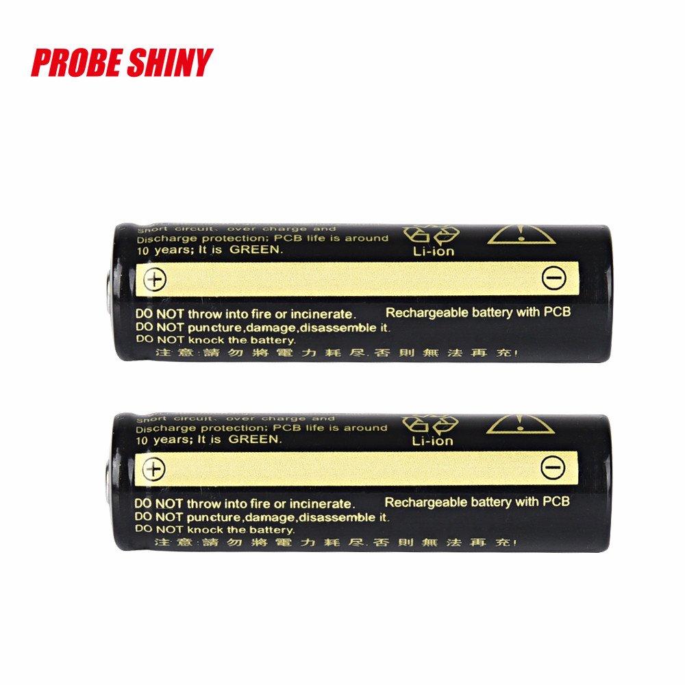 2Pack Flashlight accessories for LED flashlight 3.7V 1865O 3200mAh Batteries