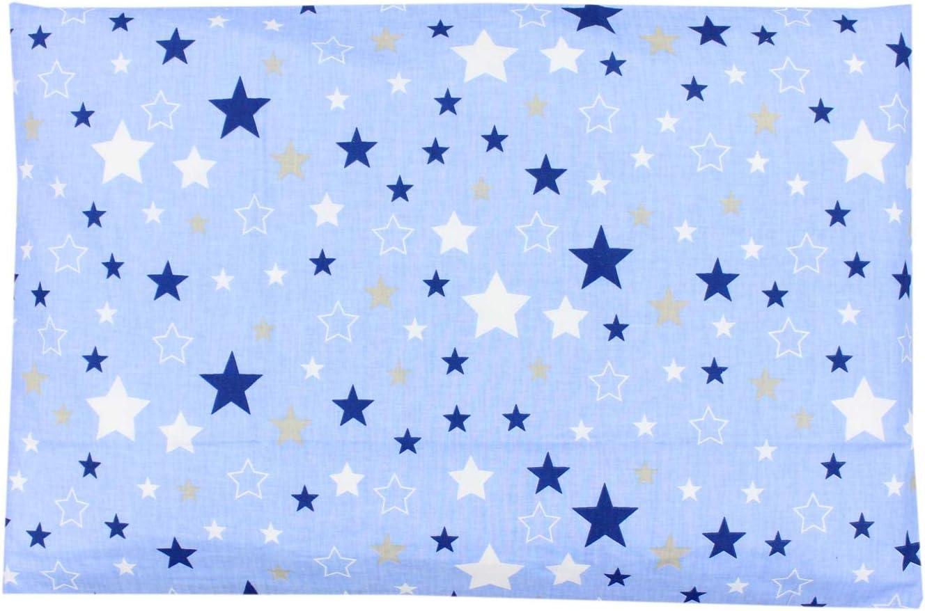 Farbe TupTam Kissenh/ülle Dekorativ Gemustert Grau Gro/ße Wei/ße Sterne 40 x 80 cm Gr/ö/ße