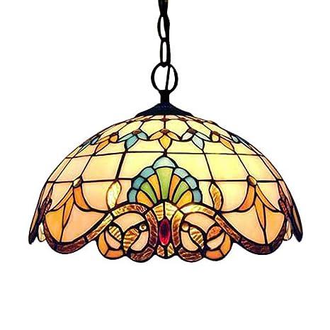 Tiffany Colgante de Luz Vendimia Diseño Sala Comedor Veranda Mediterráneo Corredor Balcón Archivos Adjuntos Lámpara Colgante Redondo Pastoral Rústico ...