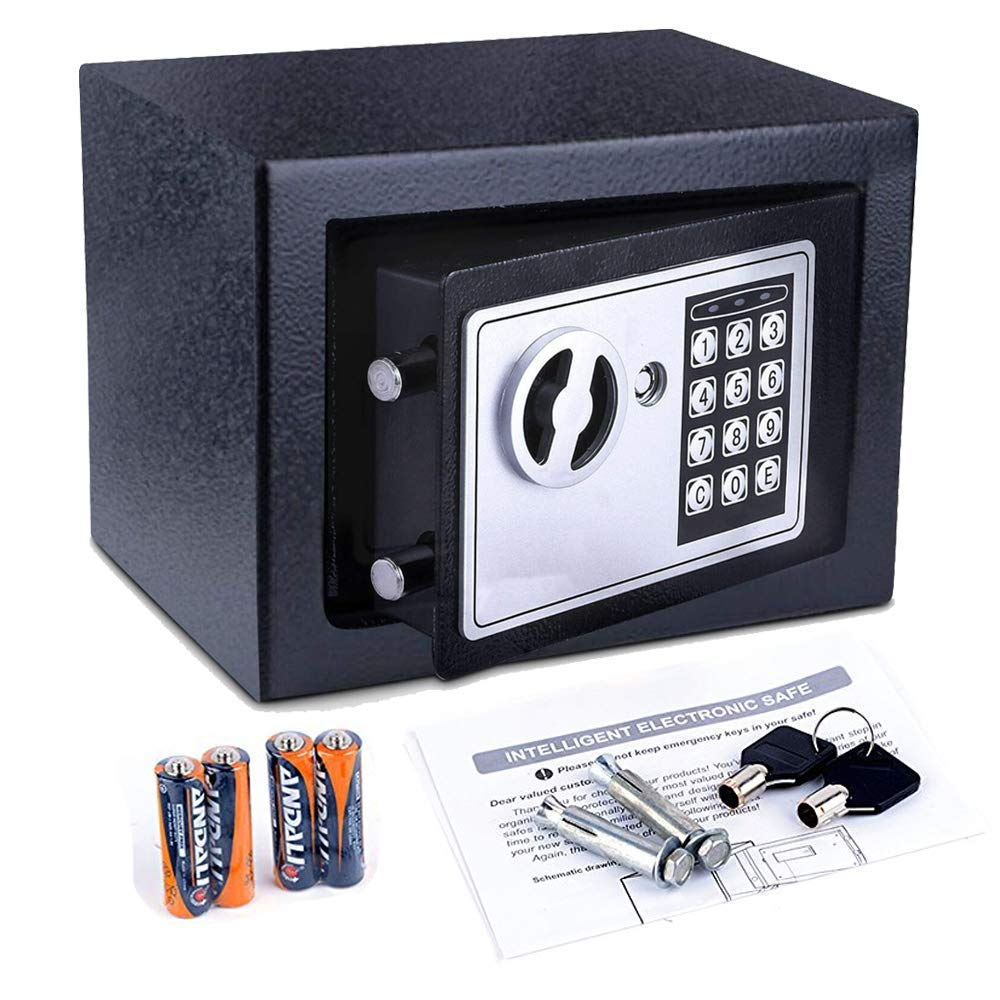Security Safe, Safe, Digital Electronic Safe Box, Money Box - Lock Box for Jewelry Money Cash Valuables by Tagorine