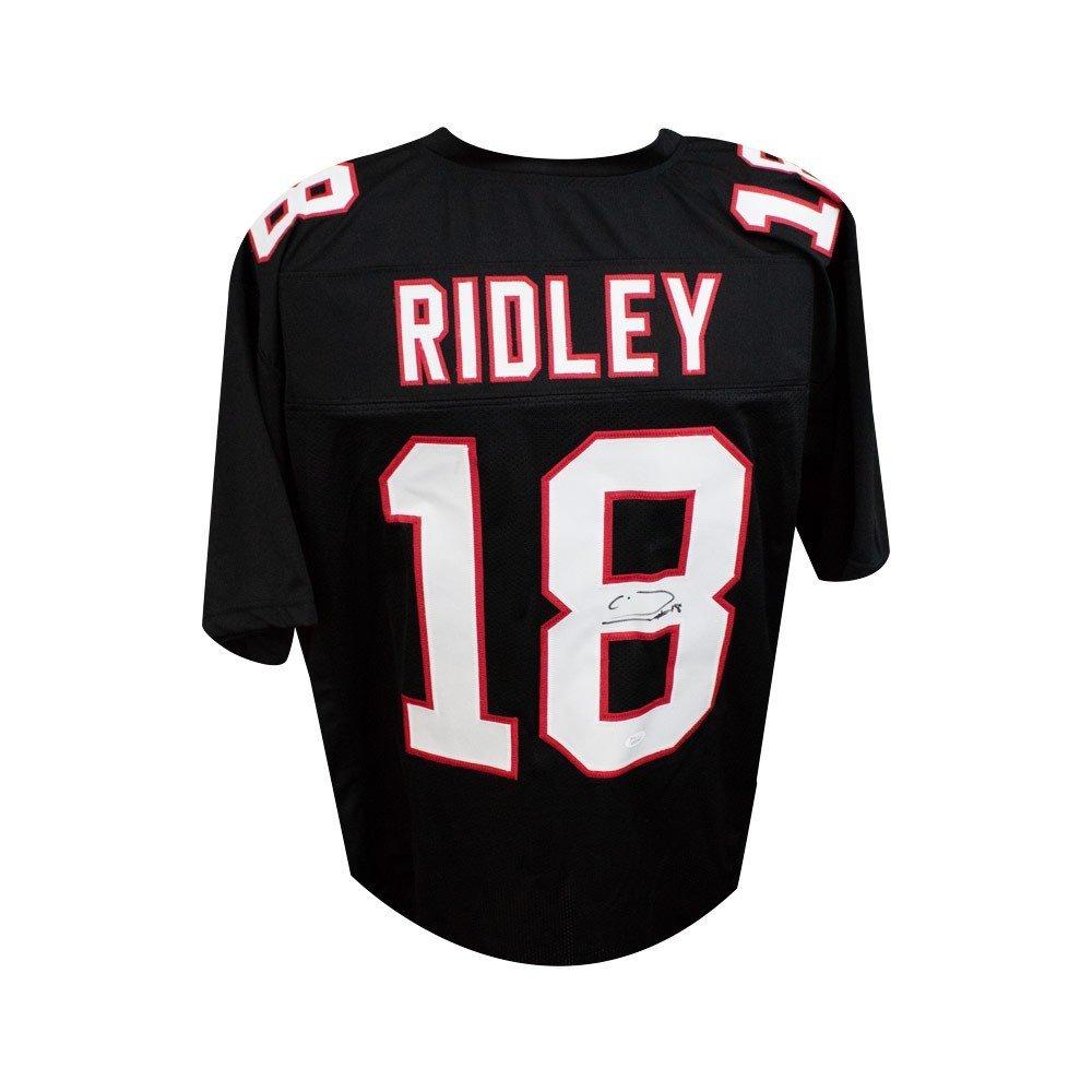 Calvin Ridley Autographed Atlanta Falcons Custom Black Football Jersey - JSA COA SCC