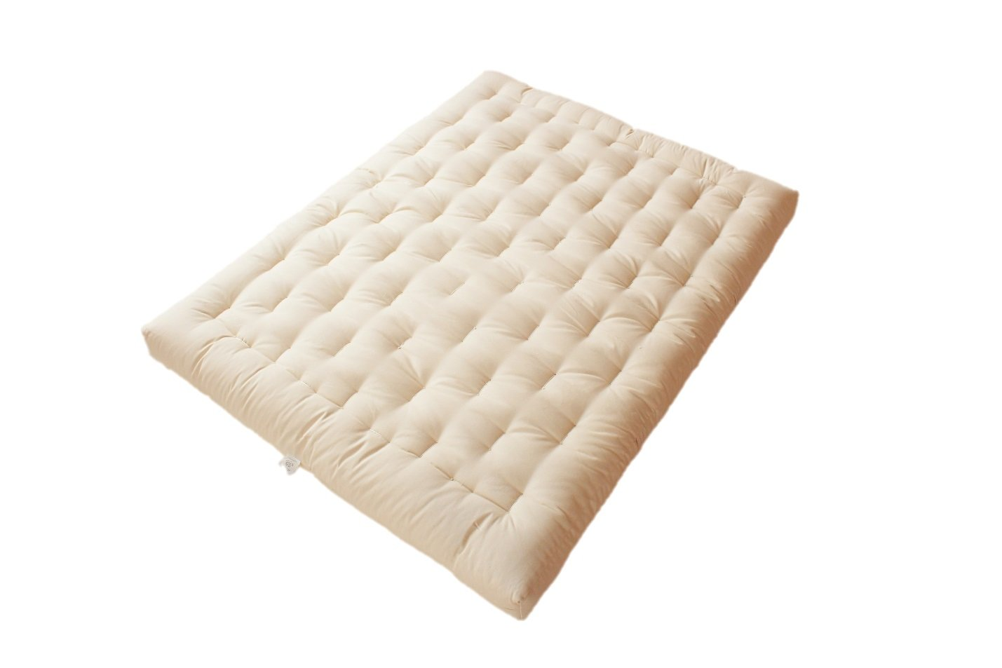 White Lotus Home Green Cotton and Wool Boulder Dreamton Mattress, Twin/6'' by White Lotus Home (Image #1)