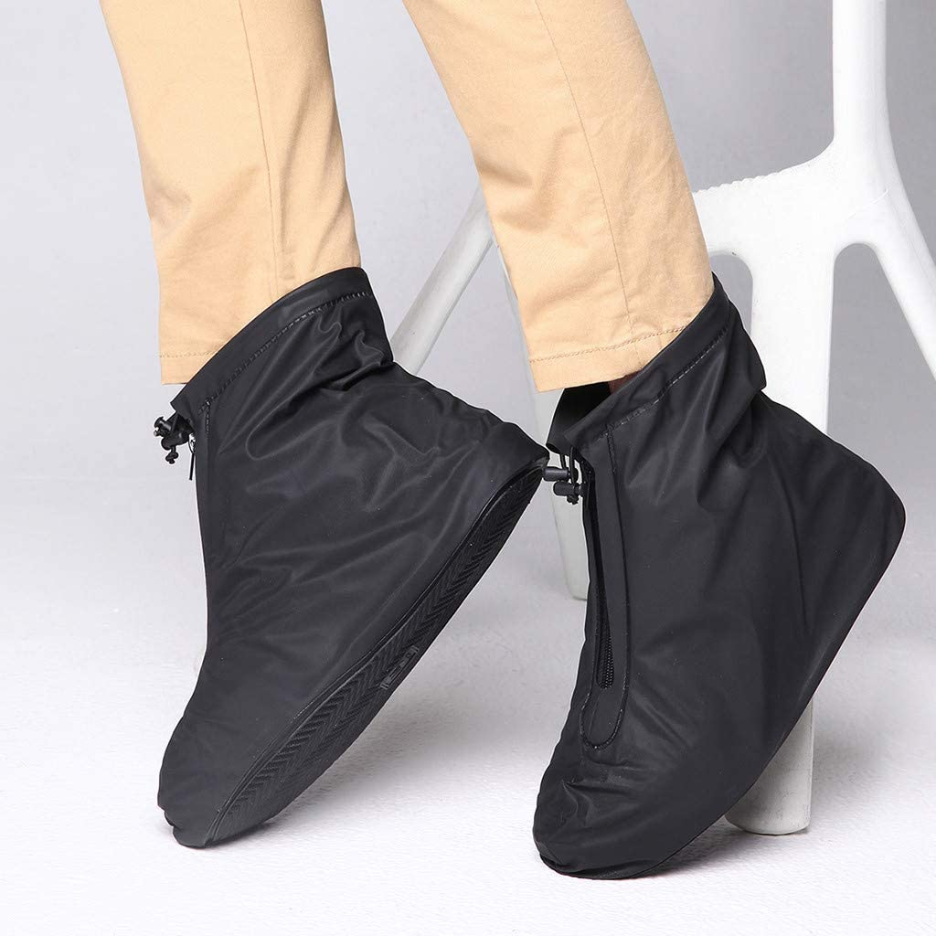Huazi2/_Rain Gear Unisex PVC Shoes Covers Rain Snow Boots Cover Reusable Non Slip Cover Waterproof