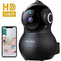 Telecamera Sorveglianza Wifi 1080P Camera IP Lensoul Videocamera Sorveglianza Interni con Audio Bidirezionale,Rilevamento Pianto di Bebè,Sensore di Movimento,Archiviazione in Cloud,YI IoT App