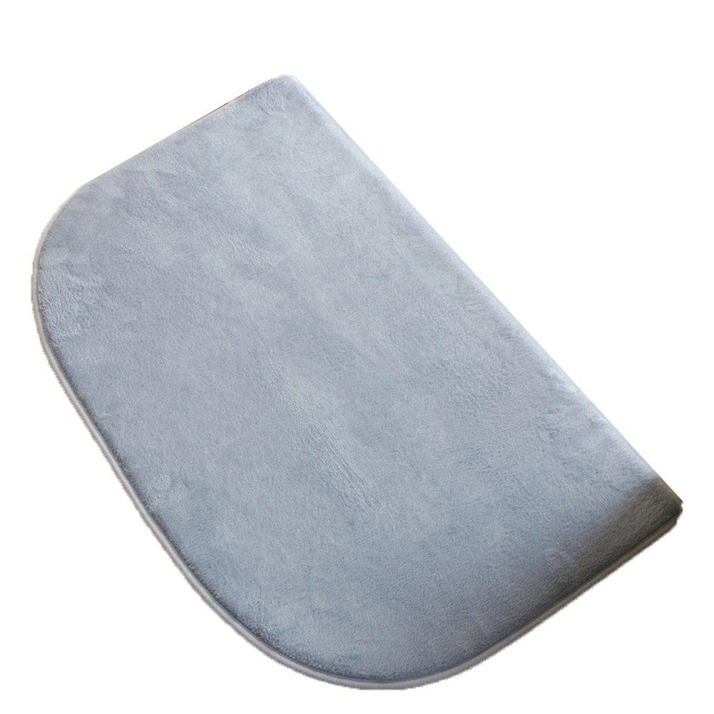 TELLM Soft Velvet Fabric Non-slip Memory Foam Bathroom Washable Indoor or Outdoor Entrance Rug Door Mat Beige big one(45*75cm)+small one(40*60£©