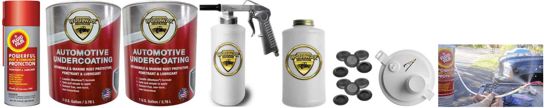 Fluid Film & Woolwax 2 Gallon Undercoating Kit Bundle. Straw (Clear) Color. Standard Spray Gun. by woolwax (Image #1)