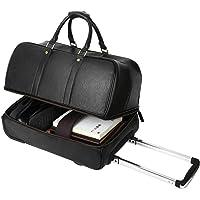 Leathario - Funda de piel para equipaje de viaje, ideal para fin de semana o de noche