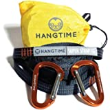 HANGTIME SUPERSTRAP-16 Hammock Straps and Carabiners - Climbing Grade Webbing, XL, Adjustable, Tree Friendly Straps & 2 Heavy Duty Aluminum Carabiners