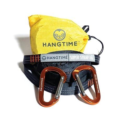 hangtime superstrap 16 hammock straps and carabiners   climbing grade webbing xl adjustable amazon     hangtime superstrap 16 hammock straps and carabiners      rh   amazon