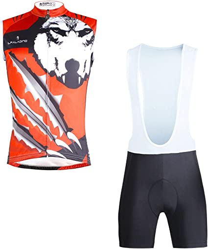 Men/'s War Wolf Long Sleeve Bike Sports Clothing Cycling Jersey Top Polyester
