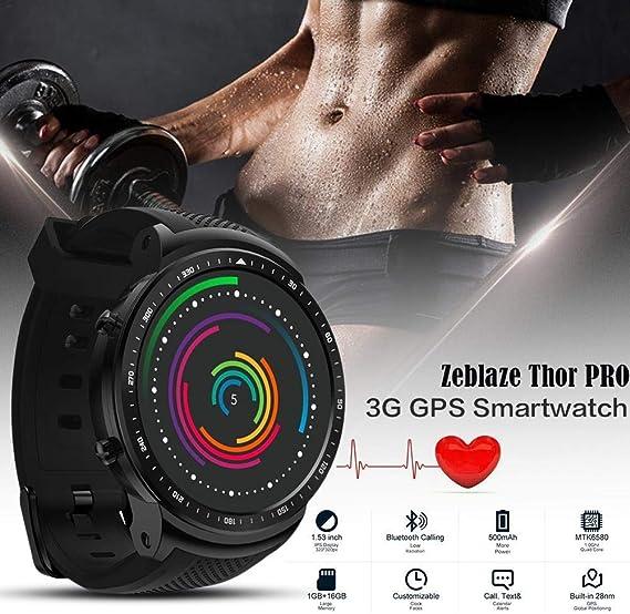 Eulan Zeblaze Thor Pro 3G GPS Bluetooth Smartwatch, Touch Screen ...