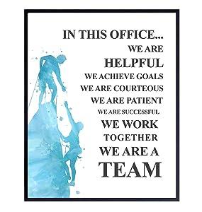 Motivational Office Decor, Inspirational Quote – 8x10 Teamwork Poster for HR, Team Leader, Manager, Boss, Entrepreneur - Leadership Wall Art Decoration – Unframed Picture