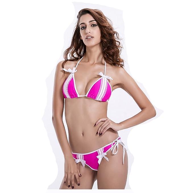b73571bade802 Dot Dot Baby Women Sexy Lace Bikini Set Padded Push up Bikini Set Two-Pieces