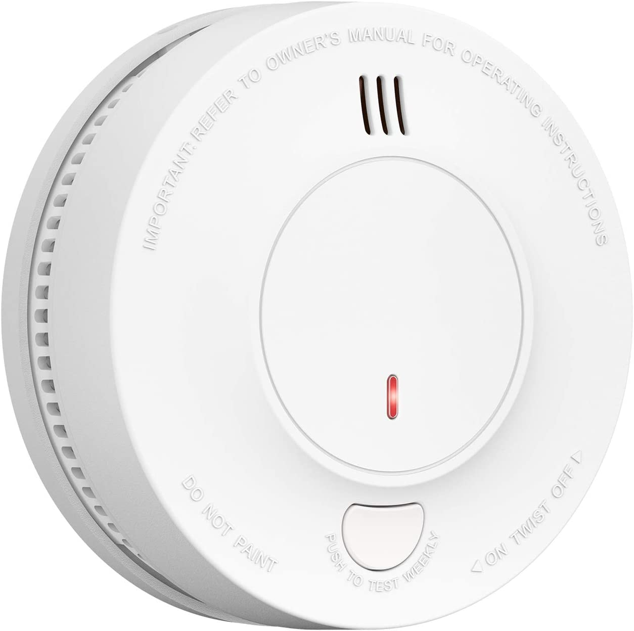 Smoke Alarm, AVANTEK 10-Year Battery Fire Alarm Smoke Detector with Photoelectric Sensor and Silence Function, UL Certified, Easy Installation