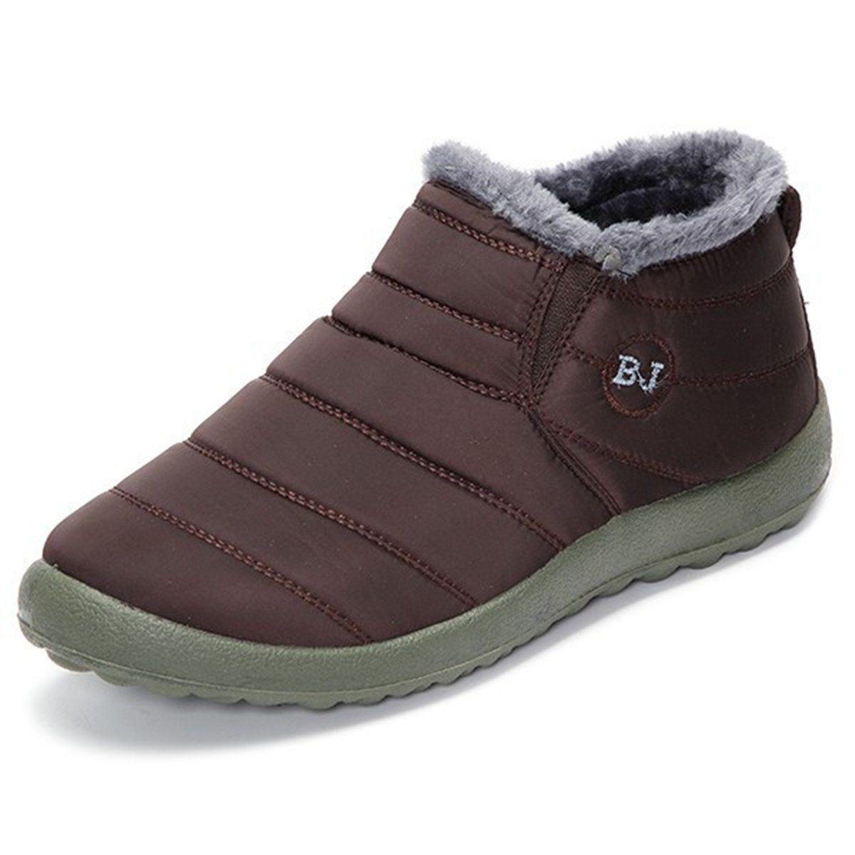 gracosy Winter Snow Ankle Boots Fur Lining Waterproof Outdoor Slip On Booties Sneakers for Men and Women GRACOSYWERTY3455