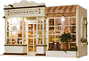 TOYROOM Girl DIY Dollhouse Kits Teenagers Miniatures Collection Furniture Handmade Mini Shop Present for Girlfriend Room Decoration 1:24 Scale with Music Box