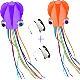 Mayco Bell Octopus Portable Kite Nylon & Polyester Material - Perfect Toy for Kids and Children Outdoor Games Activities - Fold-able Large 28 x 157 Inches | Extra 328 Feet Of Line