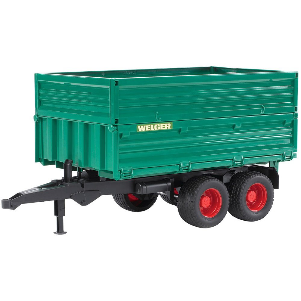 Bruder 02010 Tandem Axle Tipping Trailer with Removable Top removeable top Vehicles
