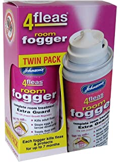 Johnsons Veterinary Products 4Fleas Fogger - Insecticida, pack de 2 botes