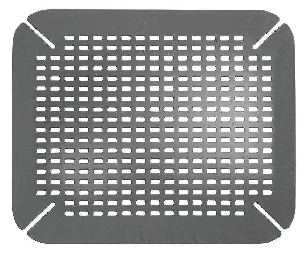 InterDesign Basic Tappetino per lavello cucina, Tappetino protettivo per lavandino in PVC, grigio 59062