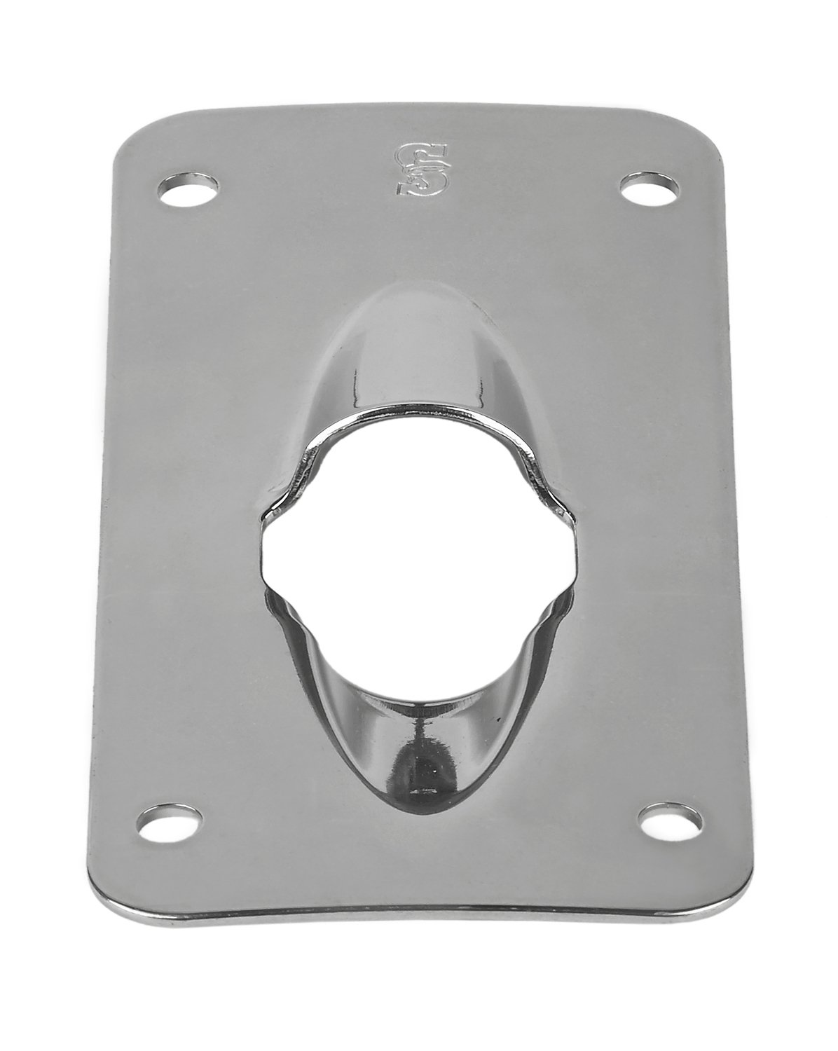 Schaefer Stainless Steel Curved Exit Plate for 3/4-Inch (19mm) Halyard