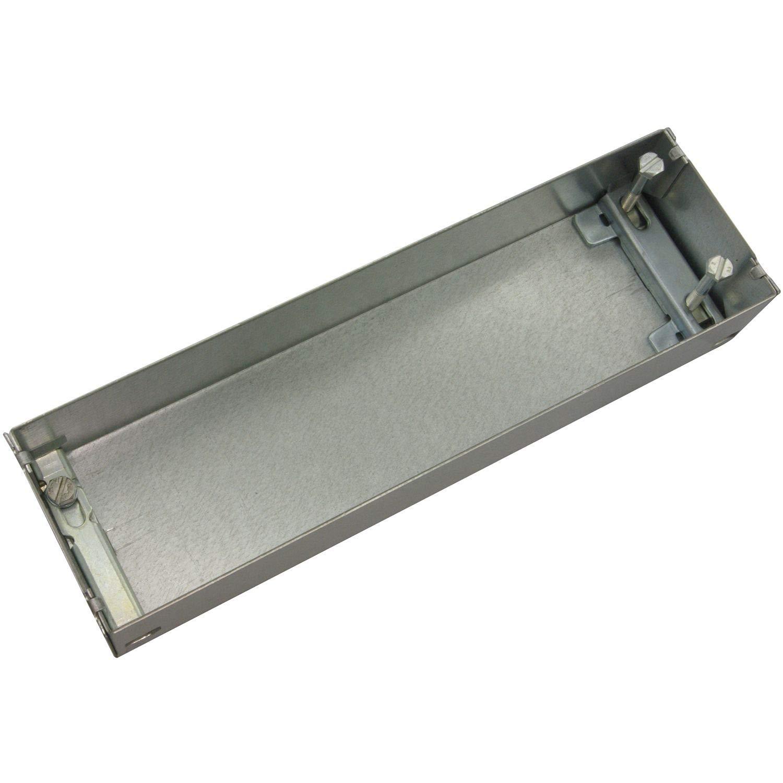 color plateado Caja de cemento para DORMA BTS 75 acero galvanizado DORMAKABA 45090054