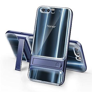 Huawei Honor 9 Funda, SMTR Ultra Silm Híbrida Rugged Armor Case Choque Absorción Protección Dual Layer Bumper Carcasa con pata de Cabra para Huawei ...